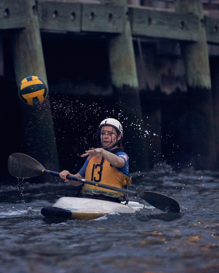 Kayak polo is one of the last kayak disciplines Olly Gotel got involved in
