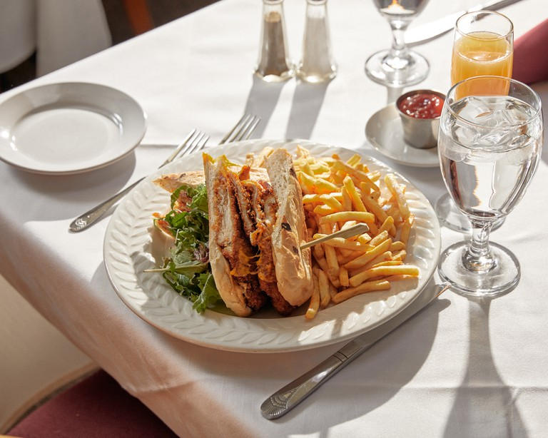 Southern-fried chicken sandwich