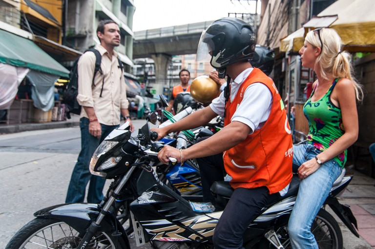 Bangkok's ubiquitous motorbike taxi drivers can be a trustworthy source for directions and other advice