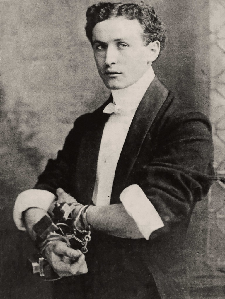 Handcuff King Harry Houdini (ca. 1902).