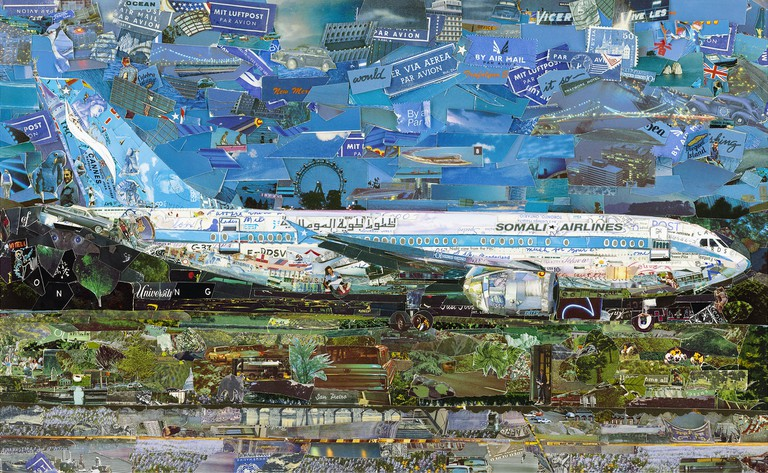 'Jetliner' (2014) by Vik Muniz from the series 'Postcards From Nowhere'