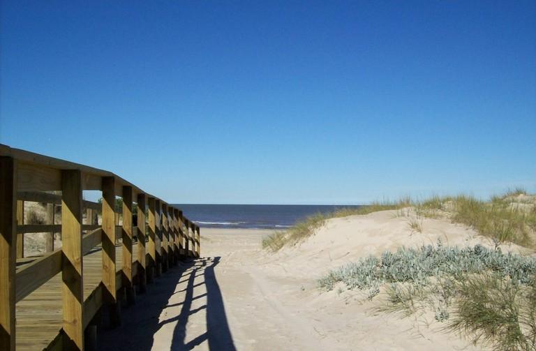 Shangrilá beach in Canelones, Uruguay