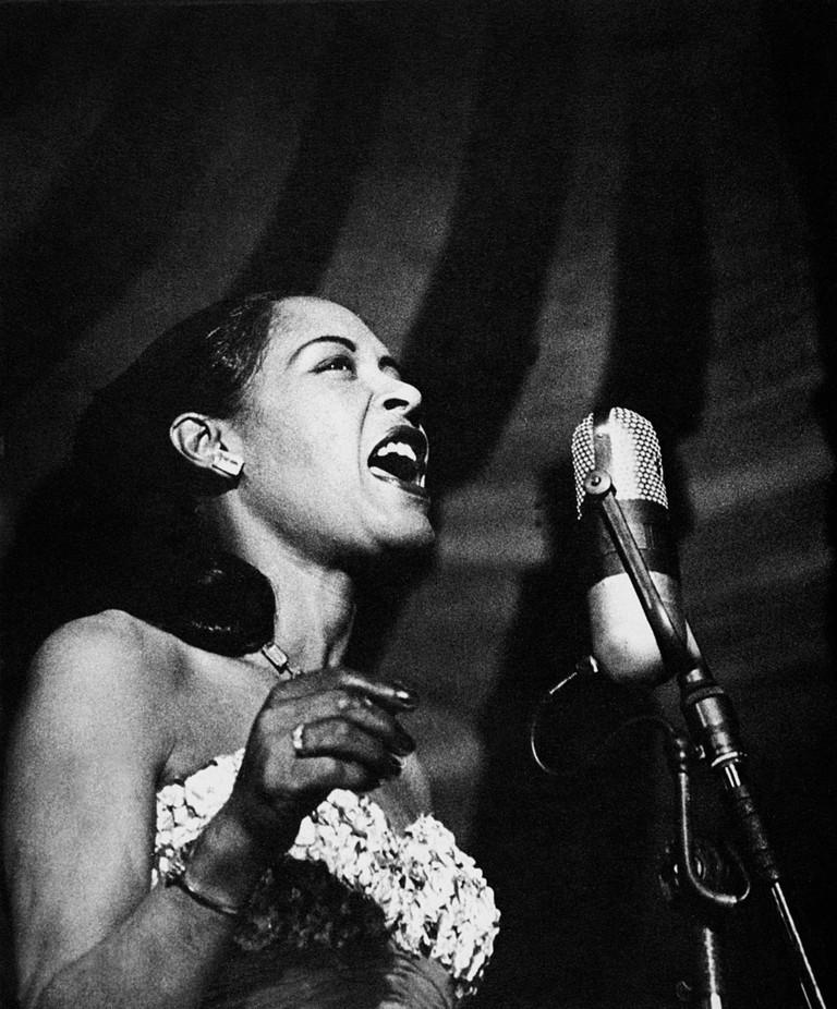 Billie Holiday (1915-1959). American Jazz Singer.