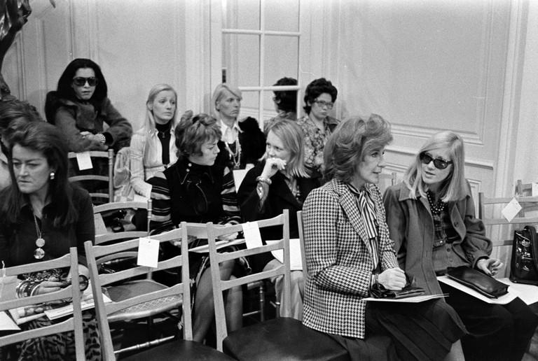 Yves Saint Laurent show, Rive Gauche, Paris, France, 27 October 1972