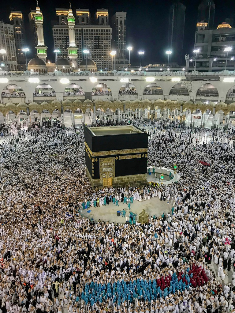 Muslim pilgrims circle the Kaaba during the annual hajj