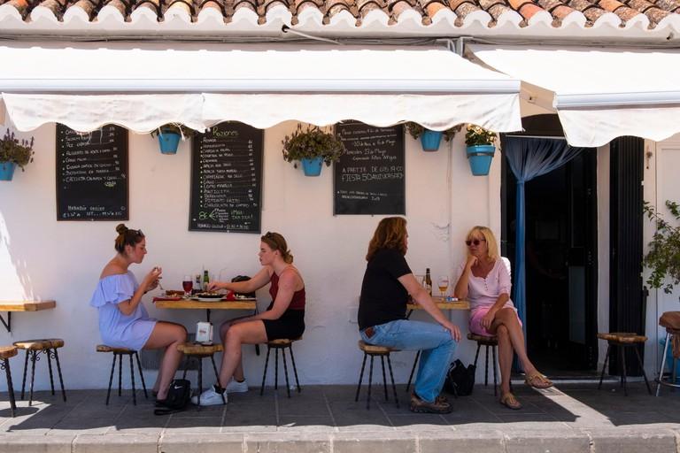 Outdoor bar in Spain