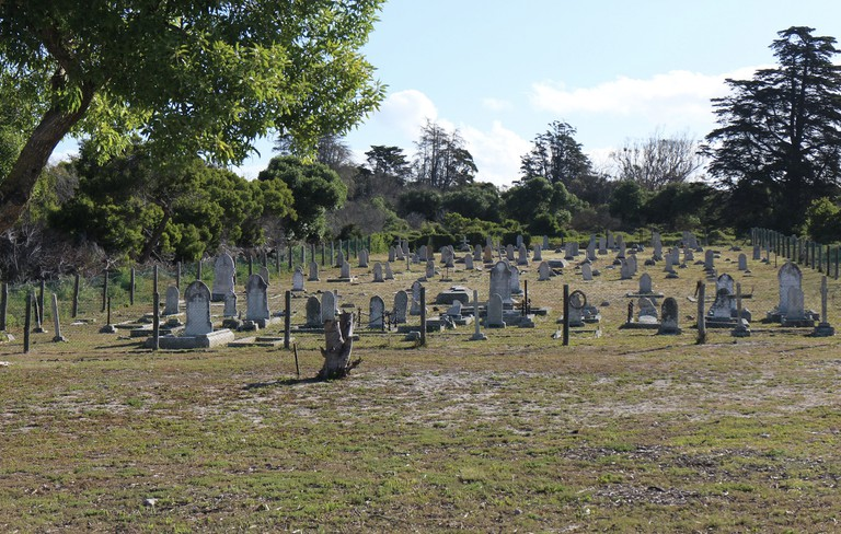 This graveyard on Robben Island was used for victims of leprosy