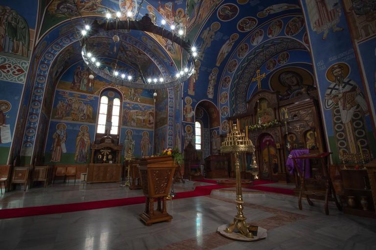 Lazarica Church altar