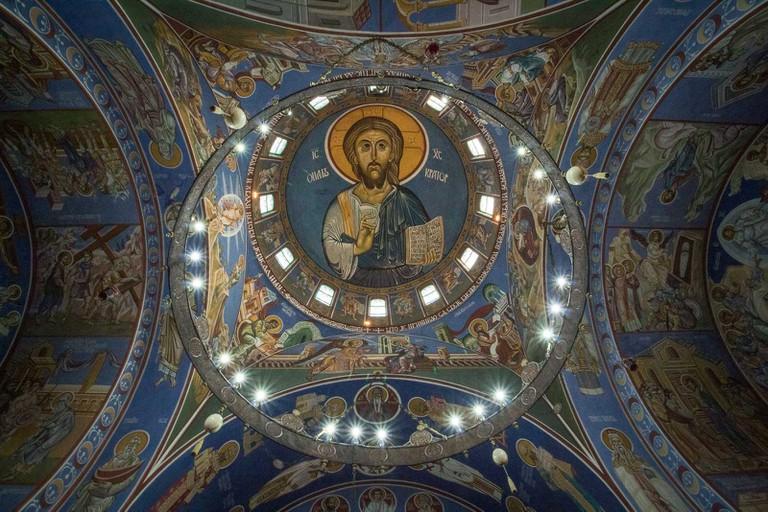 Jesus mural at Lazarica Church