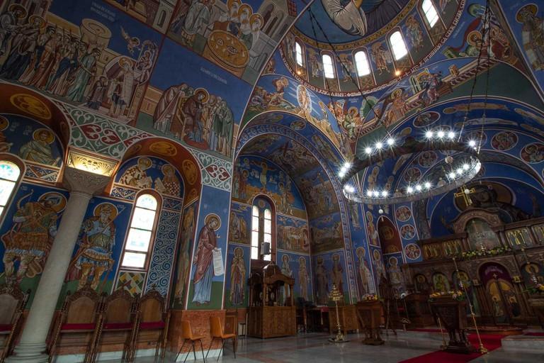 Stunning frescoes inside Lazarica Church