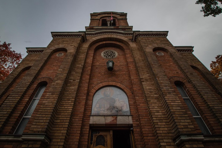 Lazarica Church strikes an imposing figure