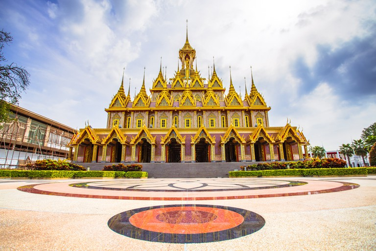 Golden Castle, or Prasat Thong-kam, at Wat Chantharam (Wat Tha Sung), an old temple from the Ayutthaya period, Uthai Thani, Thailand.