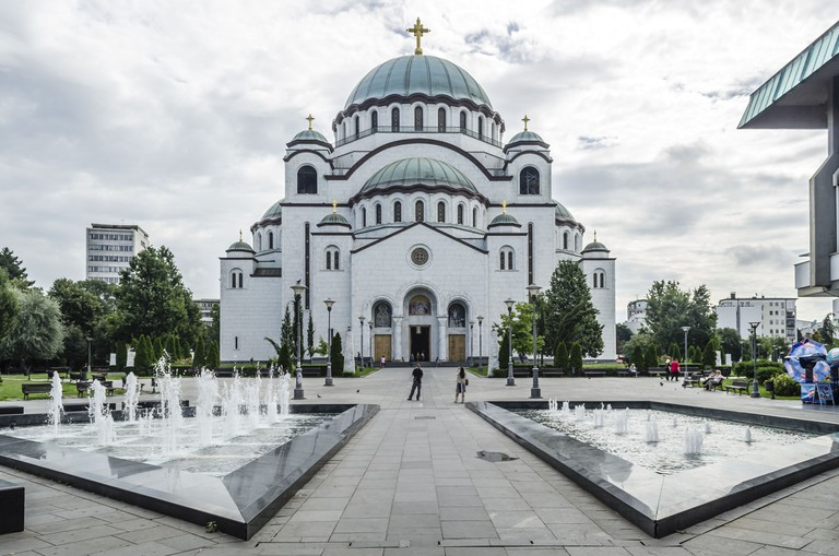 Serbian Orthodox Church of St. Sava in Belgrade.