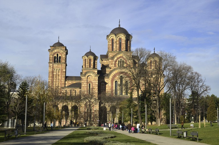 St. Mark's Church in Belgrade, Serbia.