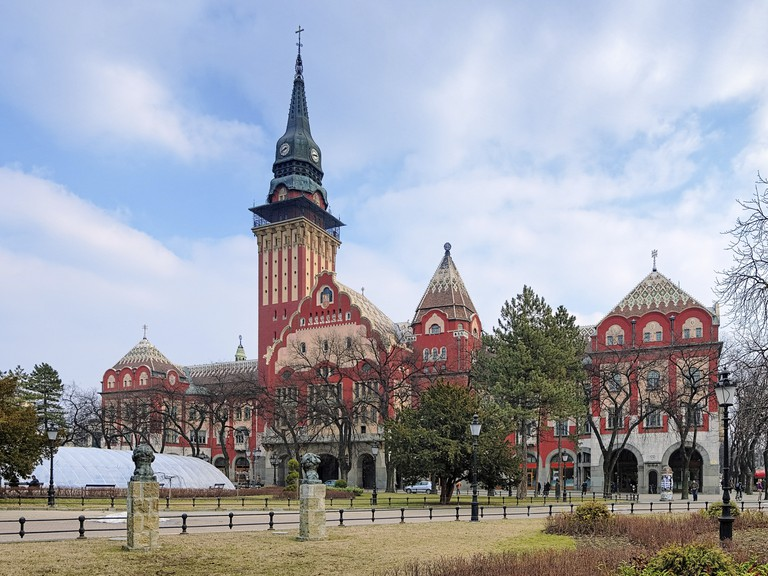 City Hall of Subotica in Hungarian Art Nouveau style, Serbia.