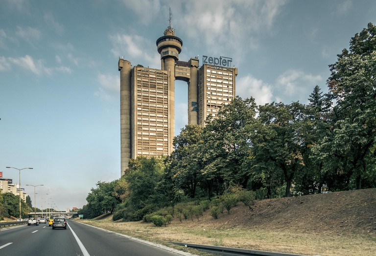 Western City Gate of Belgrade viewed from E 70 route.