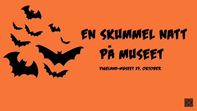 Vigeland Museum's poster for this year's Spooky Night, courtesy of Vigeland Museum