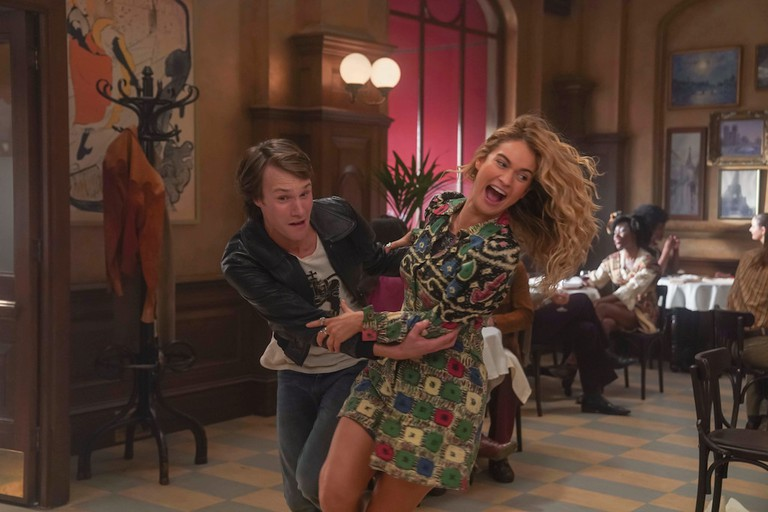 Hugh Skinner and Lily James sing 'Waterloo' in 'Mamma Mia! Here We Go Again'