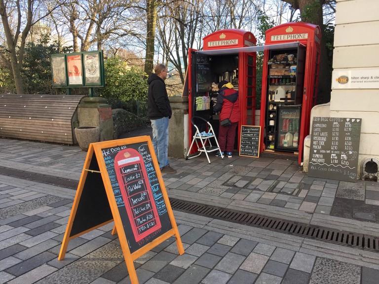 Red Box Coffee in Brighton, set up under BT's Adopt a Kiosk scheme