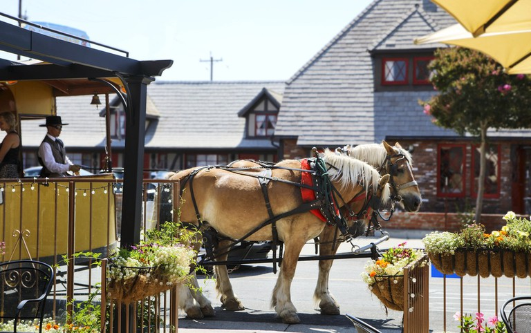 Horse drawn carriage, Solvang