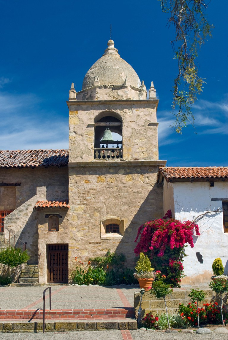 Church bell tower Mission San Carlos de Borromeo