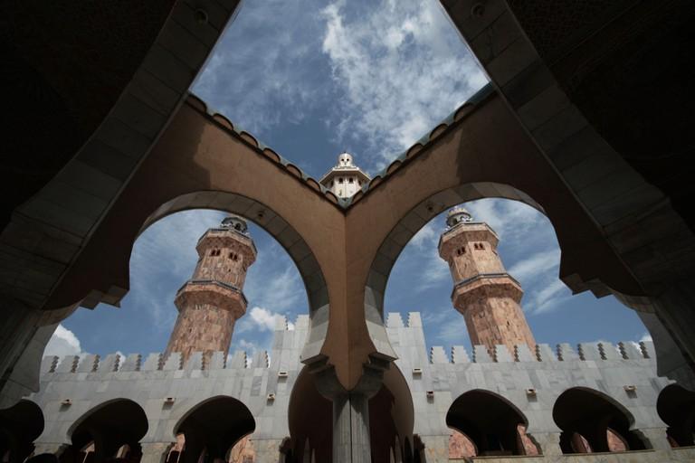 Pilgrims circumnavigate theGreat Mosque during the pilgrimage