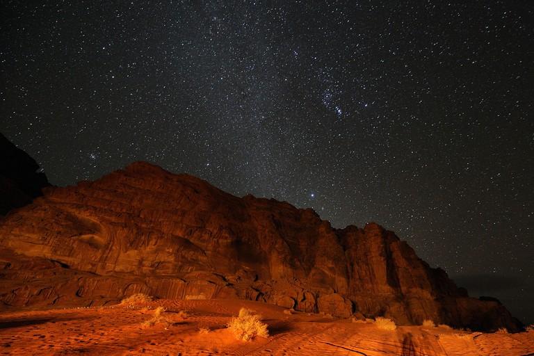 Wadi Rum at night