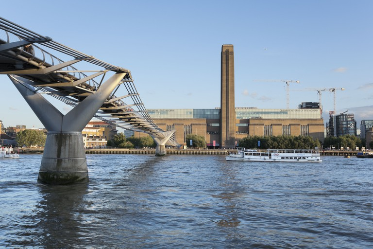 The Tate Modern Art Gallery and the River Thames