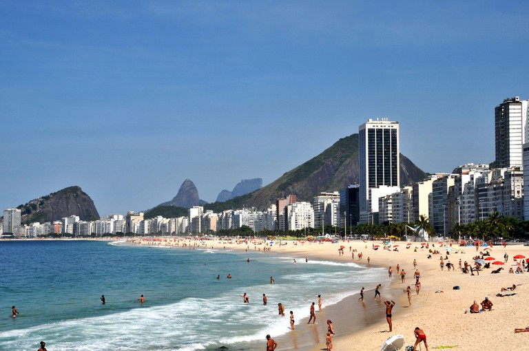 Copacabana Beach is in the southern part of the city