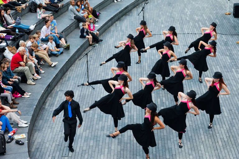 Show in The Scoop Open Air Theatre Southwark, London.