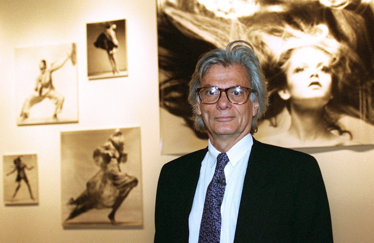 Richard Avedon at an exhibition of his works in Cologne, Germany, September 9, 1994