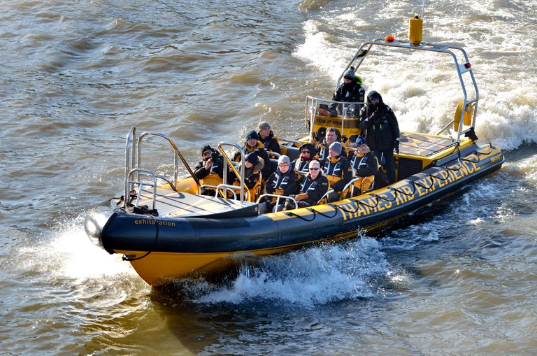 The Thames RIB Experience heads to Tower Bridge from Westminster