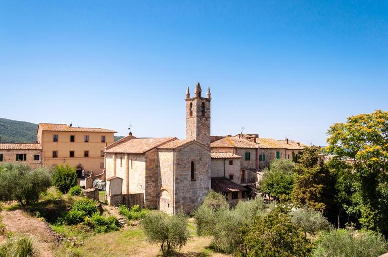 little chapel in monteriggioni, tuscany, italy