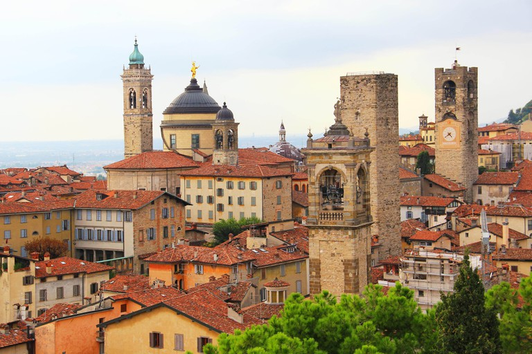 Medieval upper town of Bergamo, Lombardy, Italy