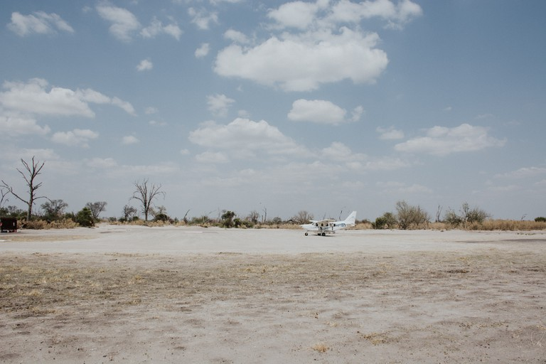 Small planes are used to ferry guests between Maun and the Okavango Delta