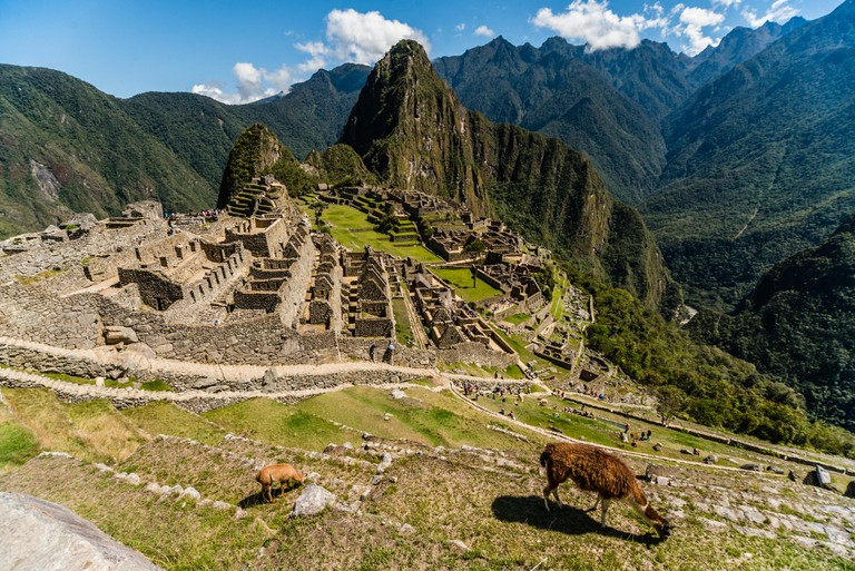 Lost Incan City of Machu Picchu near Cusco, Peru.