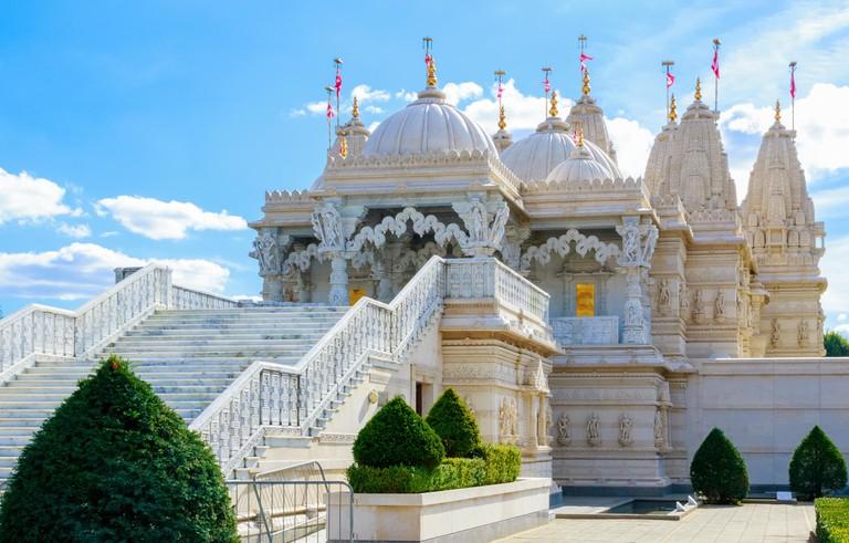 Hindu temple, BAPS Shri Swaminarayan Mandir in Neasden, London.
