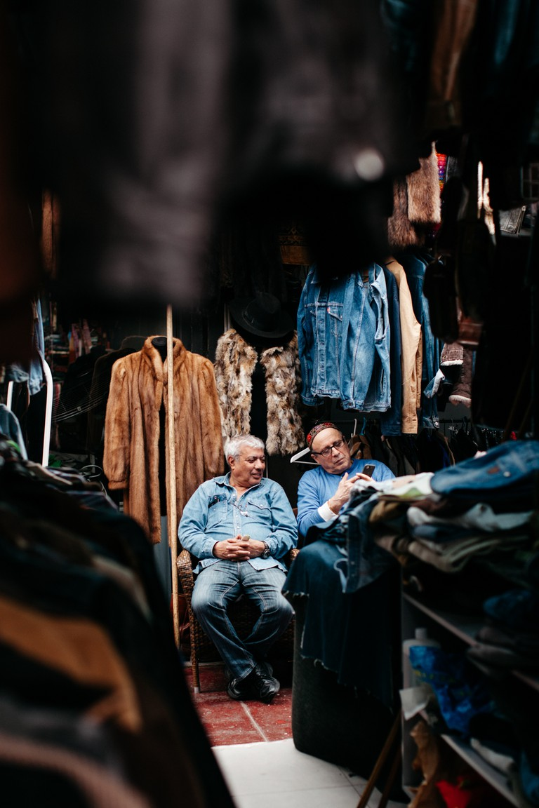 Denim is always in among the market traders