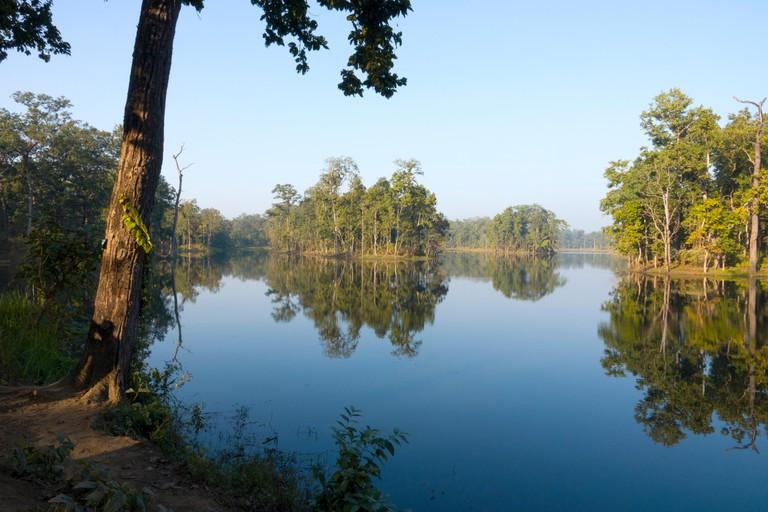 Twenty thousand lake (Bishazari Tal), Chitwan National Park, Nepal