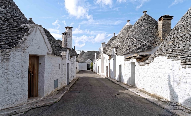 Alberobello, a small town in the Apulia region of the Iria valley.