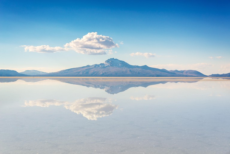 Salar de Uyuni's pools act like a reflective mirror