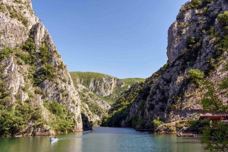 Matka Lake, Matka Canyon, Skopje, Skopje Region, Republic of Macedonia.