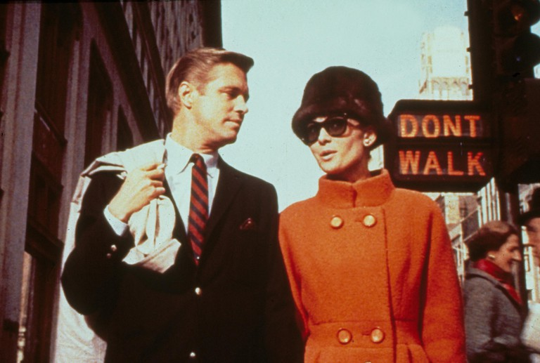 "George Peppard and Audrey Hepburn in ""Breakfast at Tiffany's"""