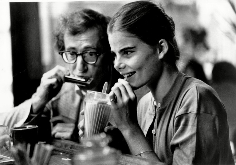 Woody Allen and Mariel Hemingway in Manhattan.