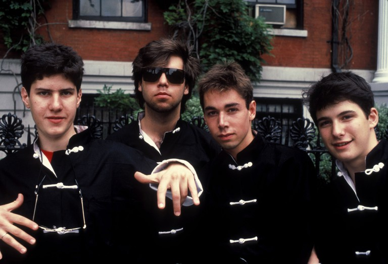 Beastie Boys in Washington Square Park, New York, USA, 1984.