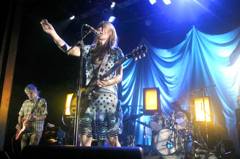 Sonic Youth performing at Webster Hall in New York.