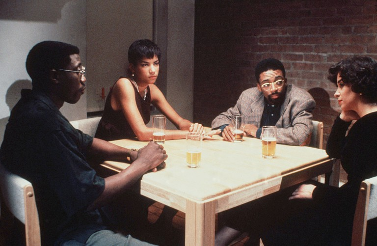 Wesley Snipes, Veronica Webb, Spike Lee and Annabella Sciorra in Jungle Fever - 1991.