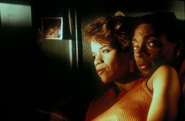 Rosie Perez and Spike Lee in Do The Right Thing - 1989