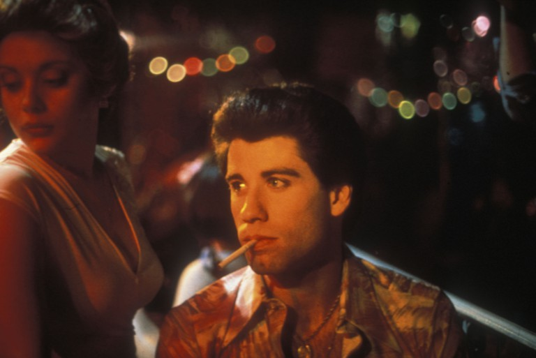 Donna Pescow and John Travolta in Saturday Night Fever - 1977.