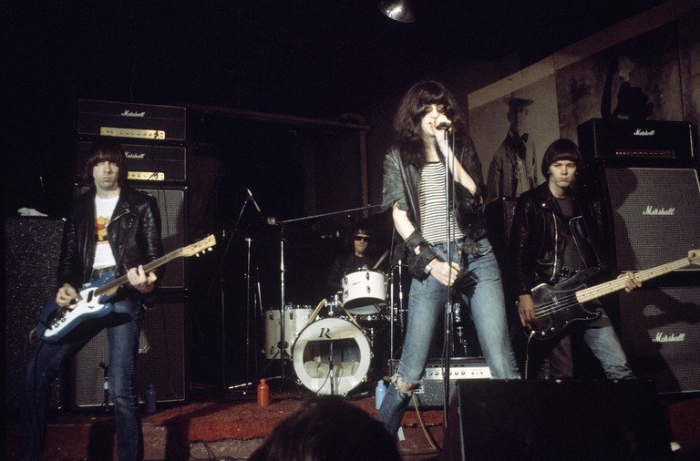 The Ramones playing at CBGB's, New York, 1978.